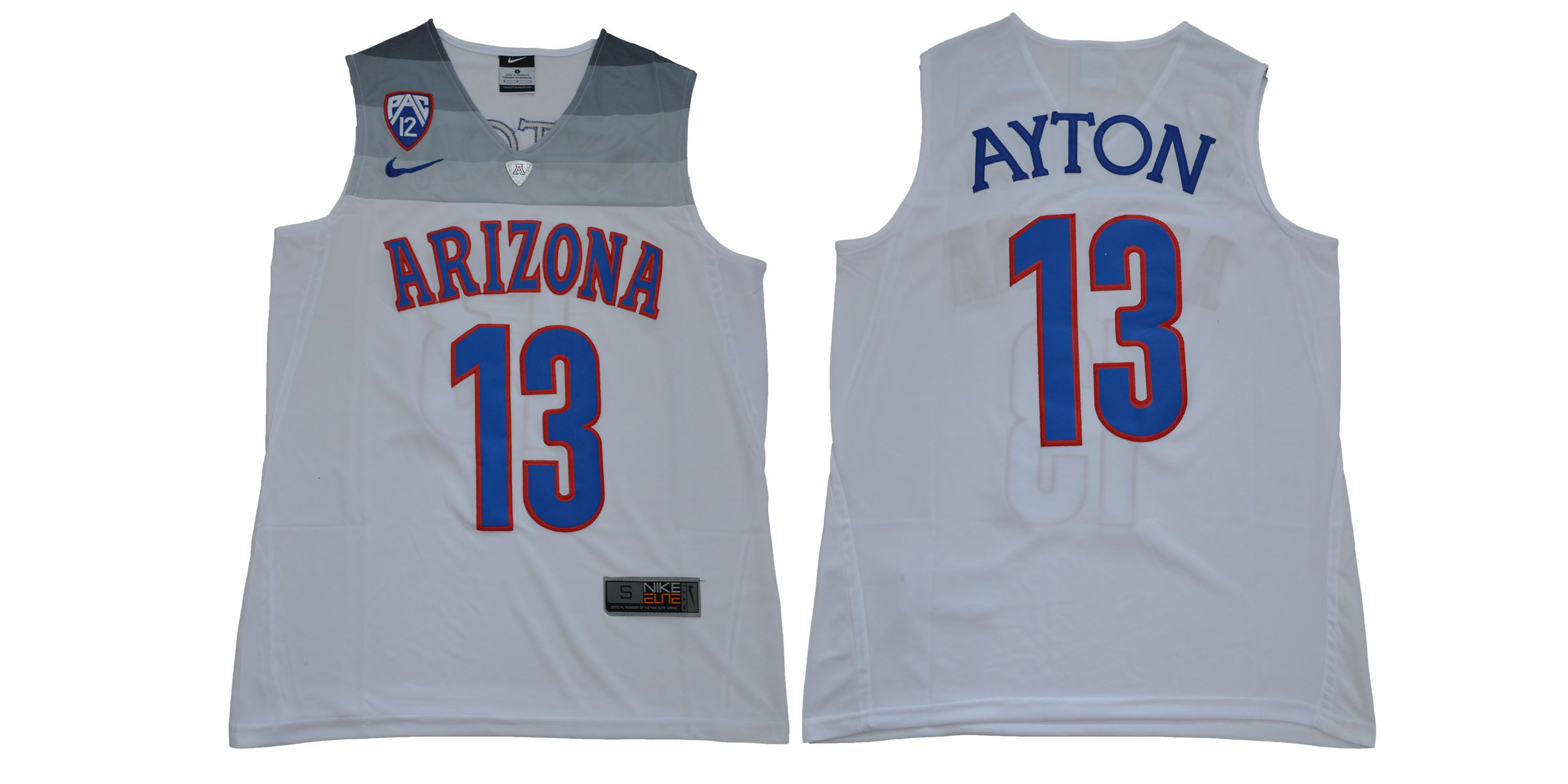 Men Arizona Wildcats 13 Ayton White NBA NCAA Jerseys