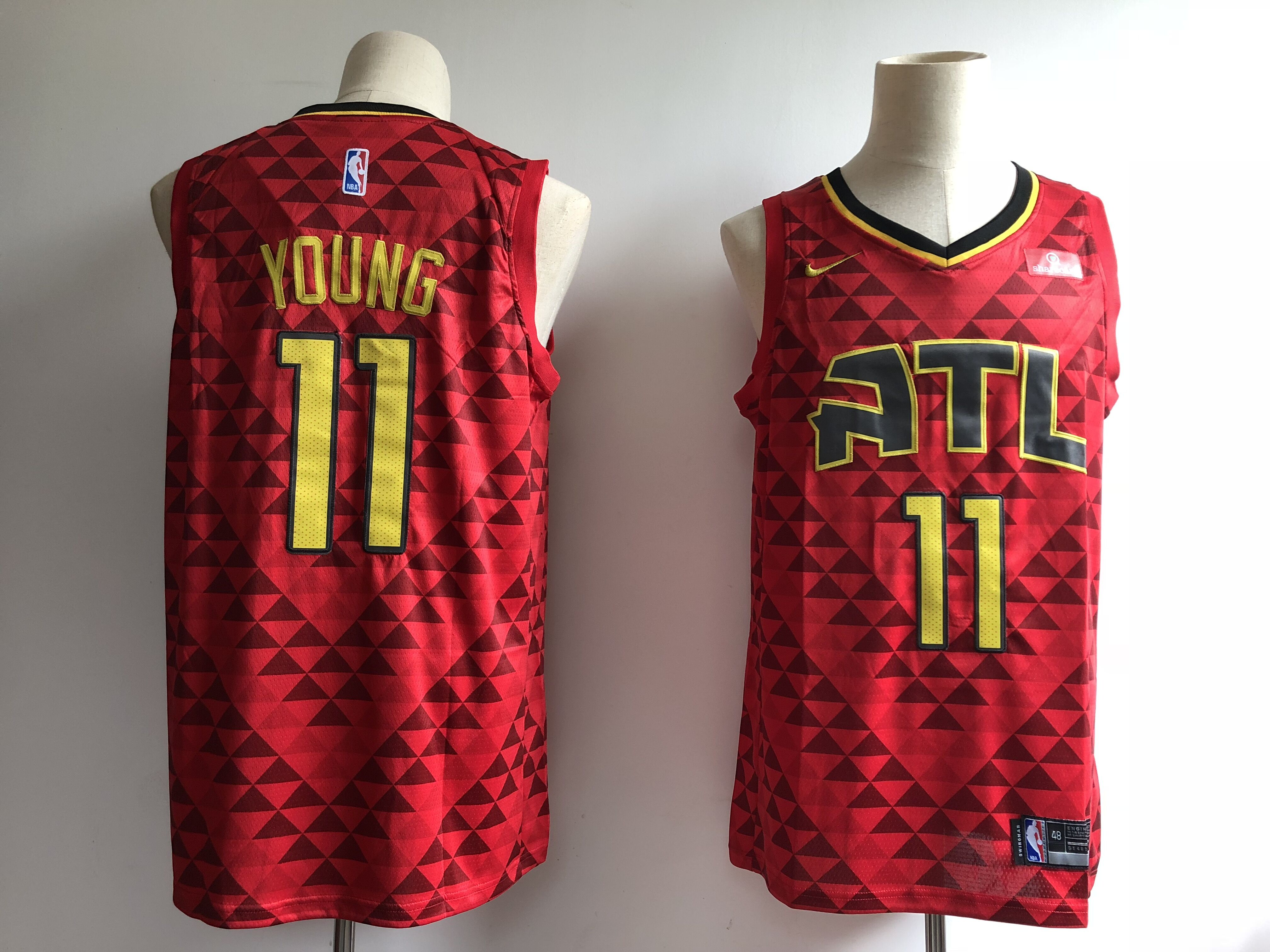 Men Atlanta Hawks 11 Young red game Nike NBA Jerseys