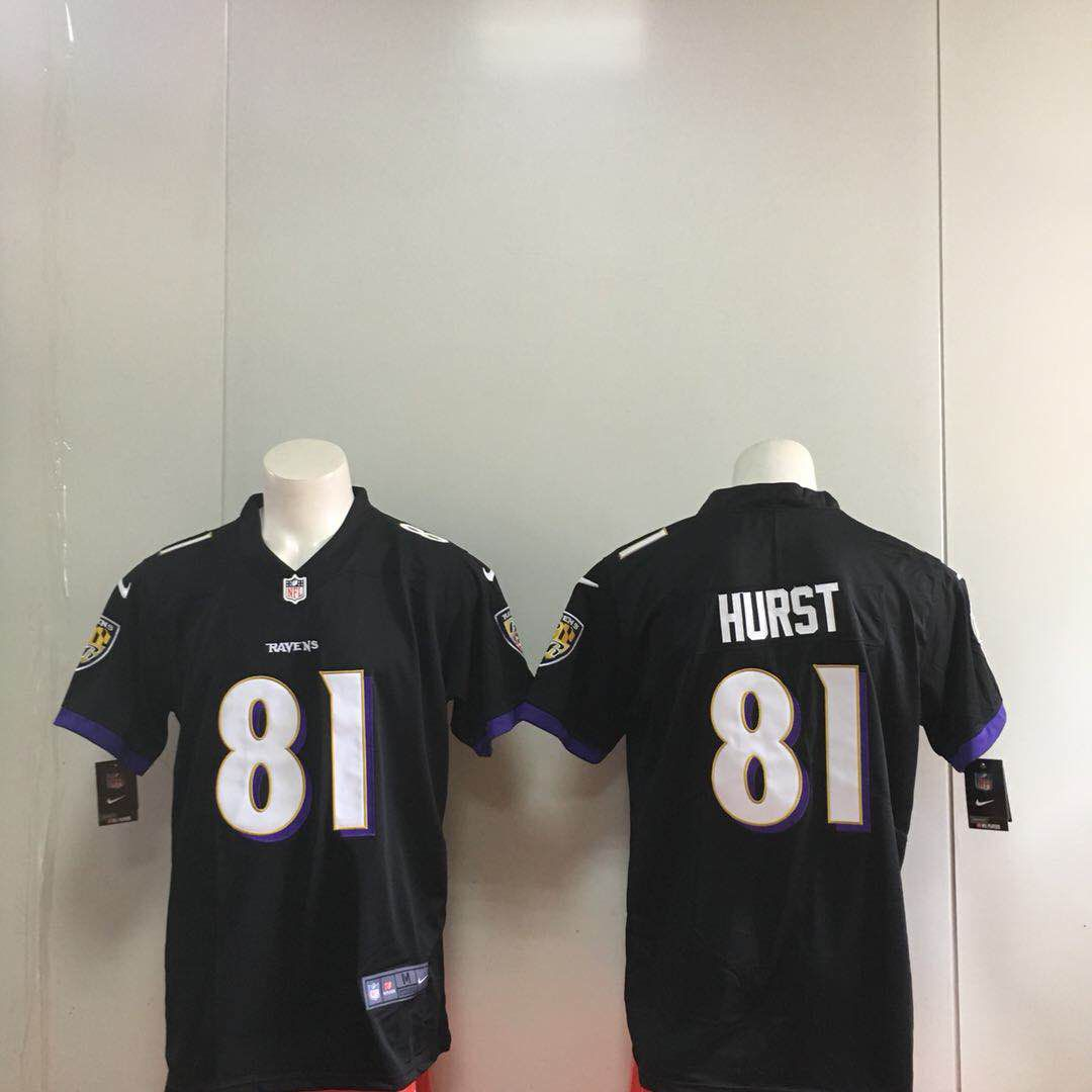 Men Baltimore Ravens 81 Hurst Black Nike Vapor Untouchable Limited Playe NFL Jerseys