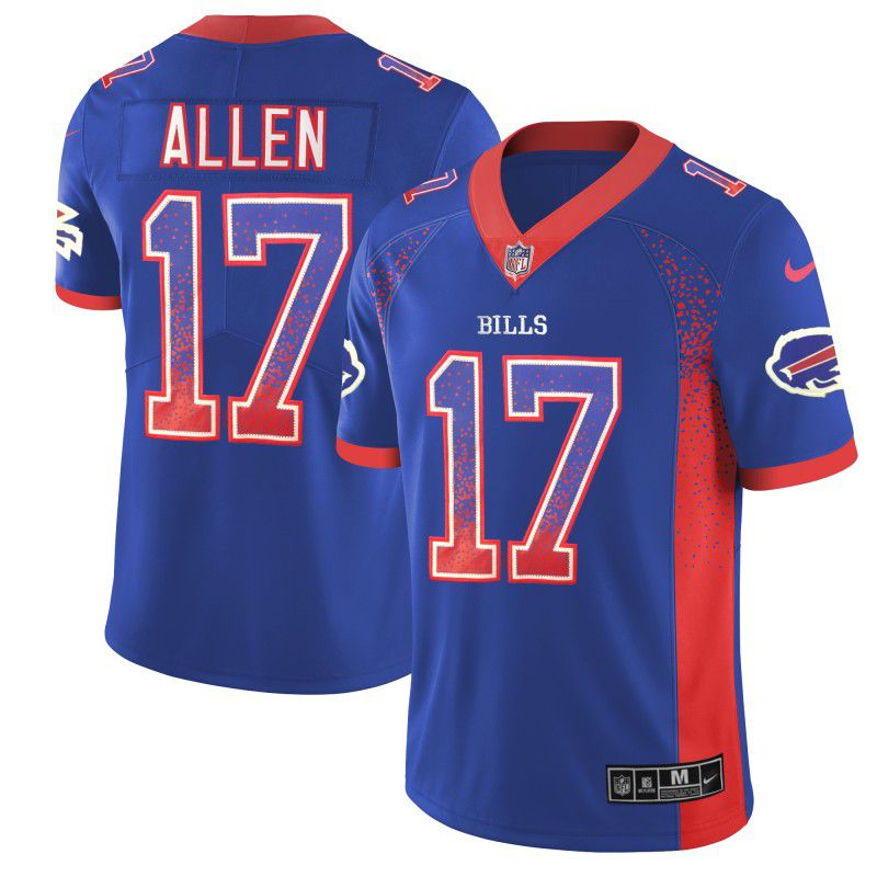 Men Buffalo Bills 17 Allen Drift Fashion Color Rush Limited NFL Jerseys