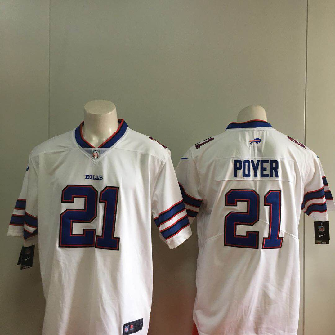 Men Buffalo Bills 21 Poyer White Nike Vapor Untouchable Limited Playe NFL Jerseys
