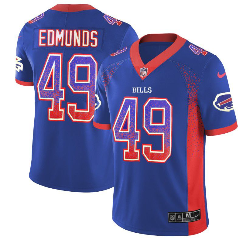 Men Buffalo Bills 49 Edmunds Blue Nike Drift Fashion Color Rush Limited NFL Jerseys