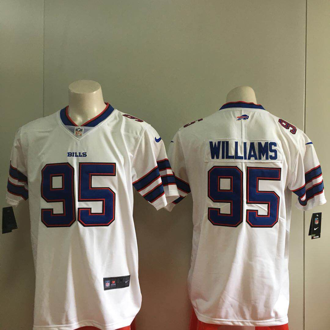 Men Buffalo Bills 95 Williams White Nike Vapor Untouchable Limited Playe NFL Jerseys