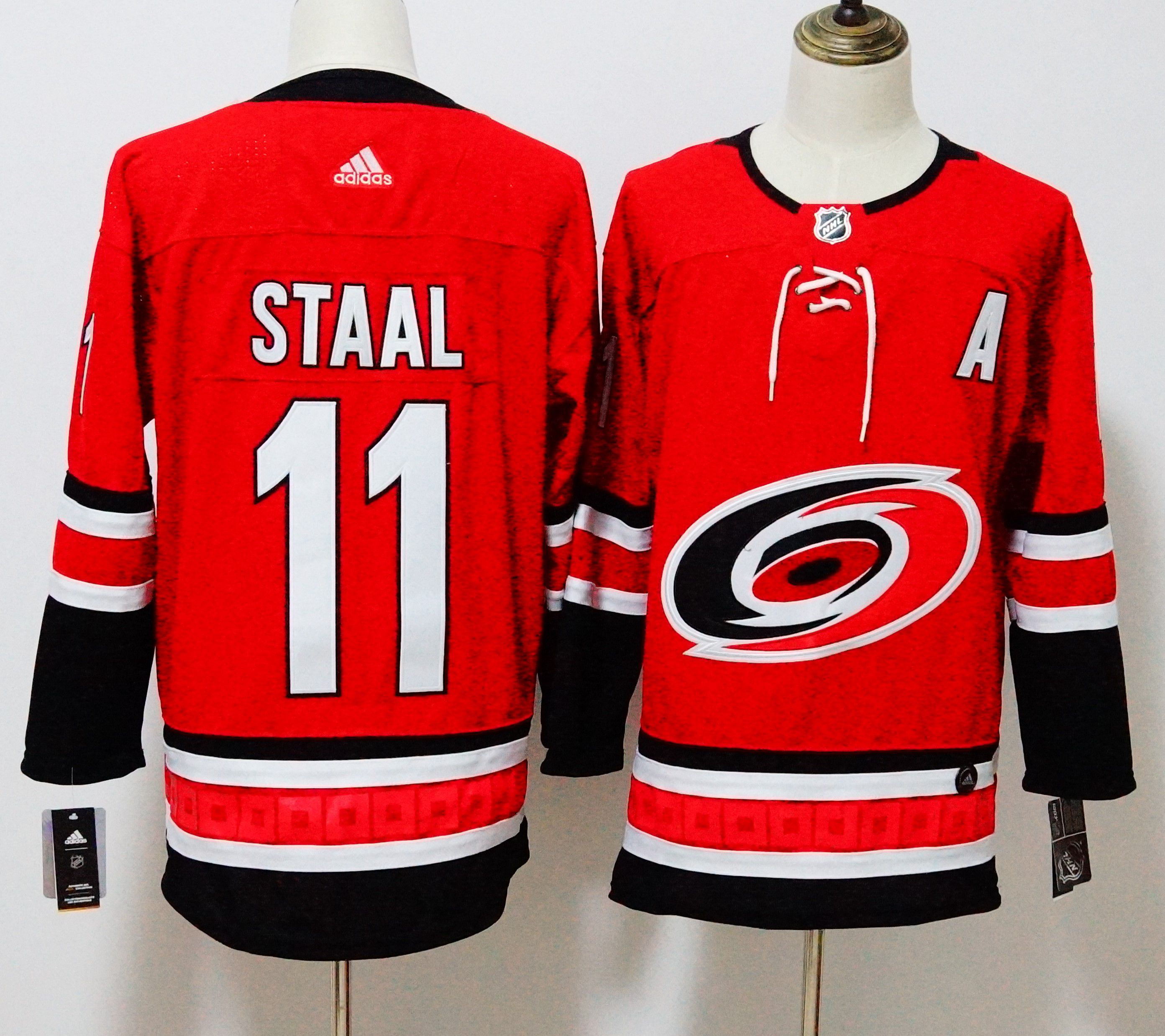 Men Carolina Hurricanes 11 Staal Red Hockey Stitched Adidas NHL Jerseys