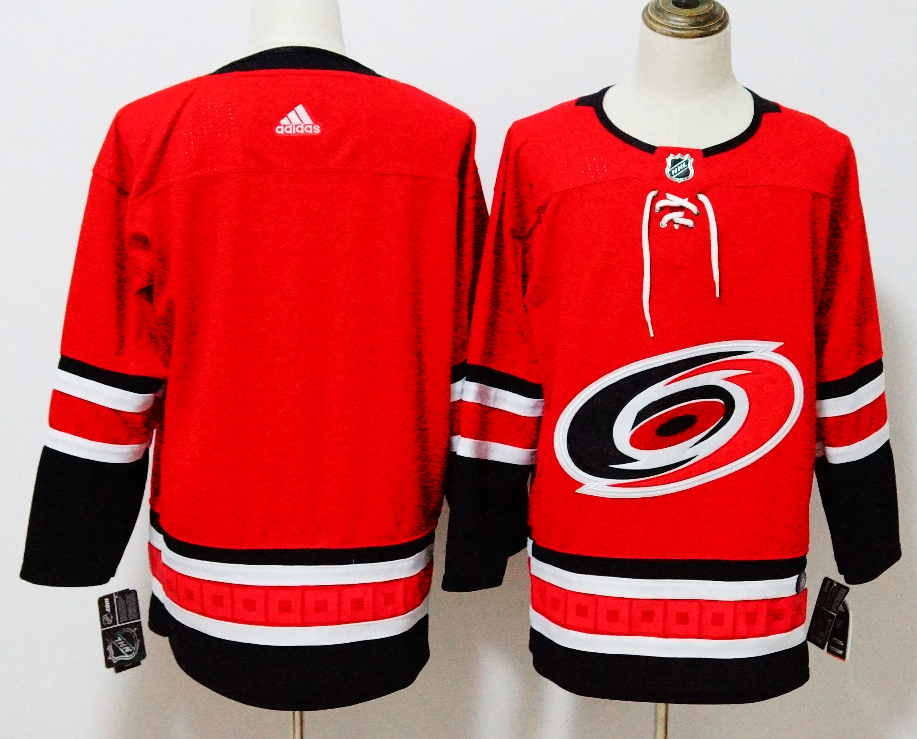 Men Carolina Hurricanes Blank Red Hockey Stitched Adidas NHL Jerseys