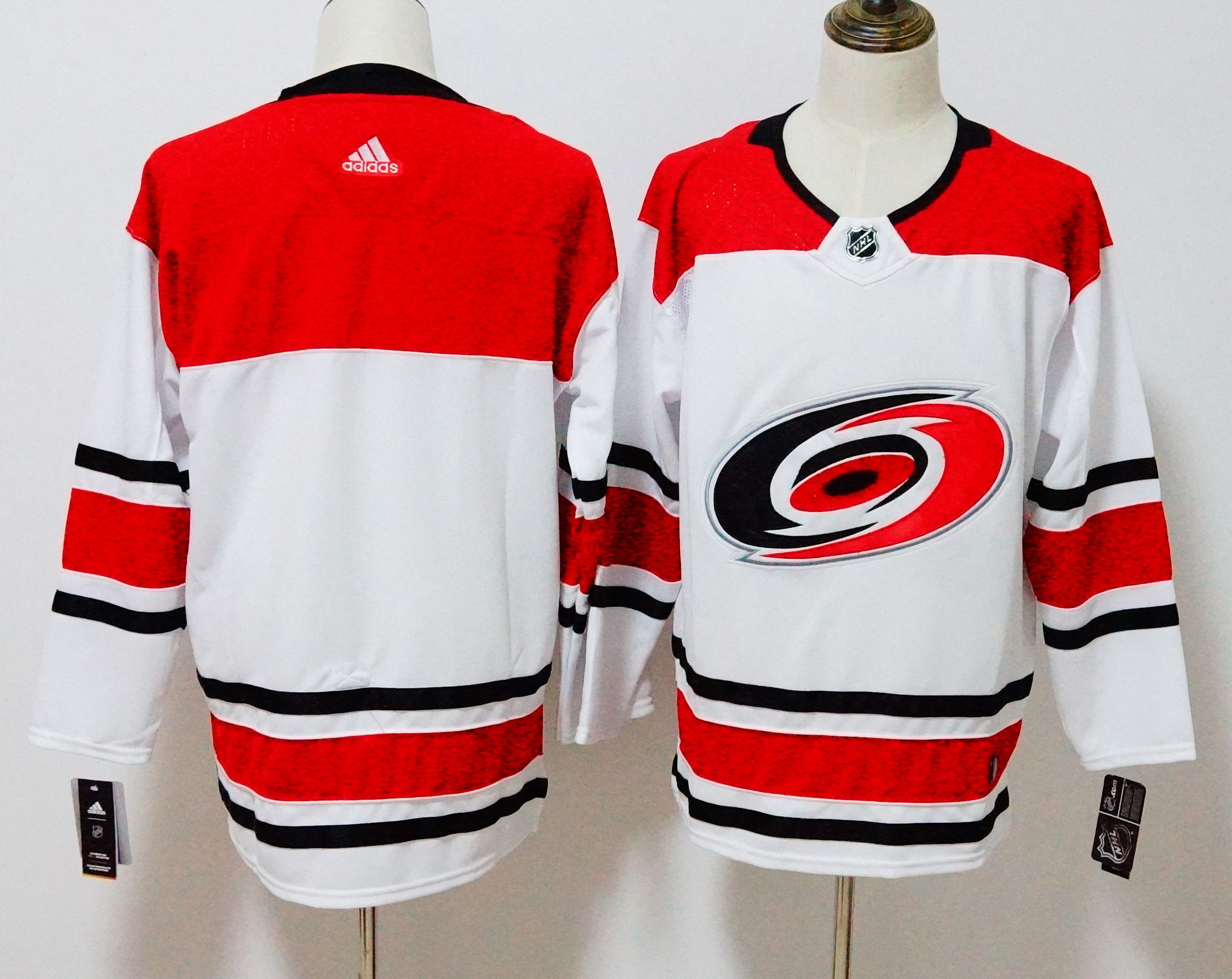 Men Carolina Hurricanes Blank White Hockey Stitched Adidas NHL Jerseys