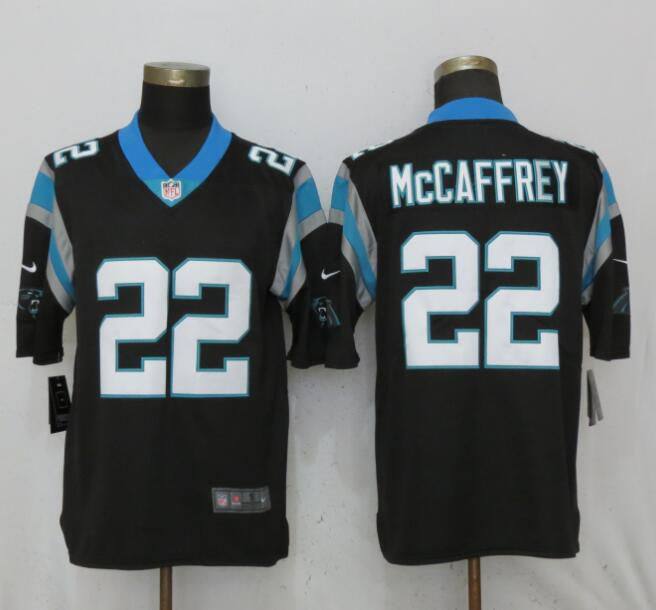 Men Carolina Panthers 22 McCaffrey Black Nike Vapor Untouchable Limited Playe NFL Jerseys