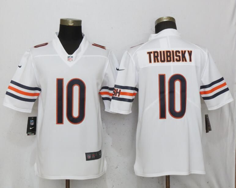 Men Chicago Bears 10 Trubisky White Nike Vapor Untouchable Limited Playe NFL Jerseys