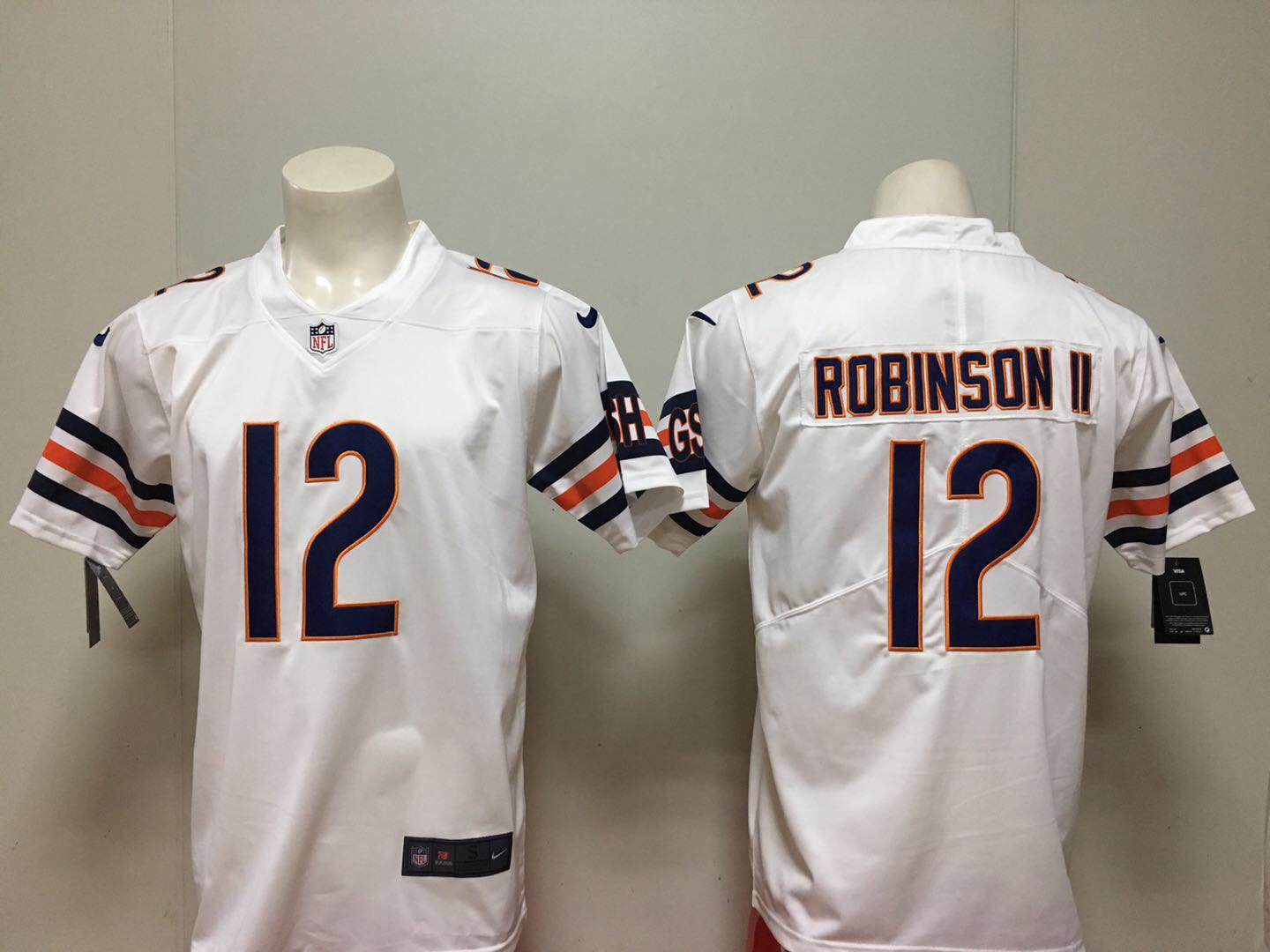 Men Chicago Bears 12 Robinson ii White Nike Vapor Untouchable Limited Playe NFL Jerseys