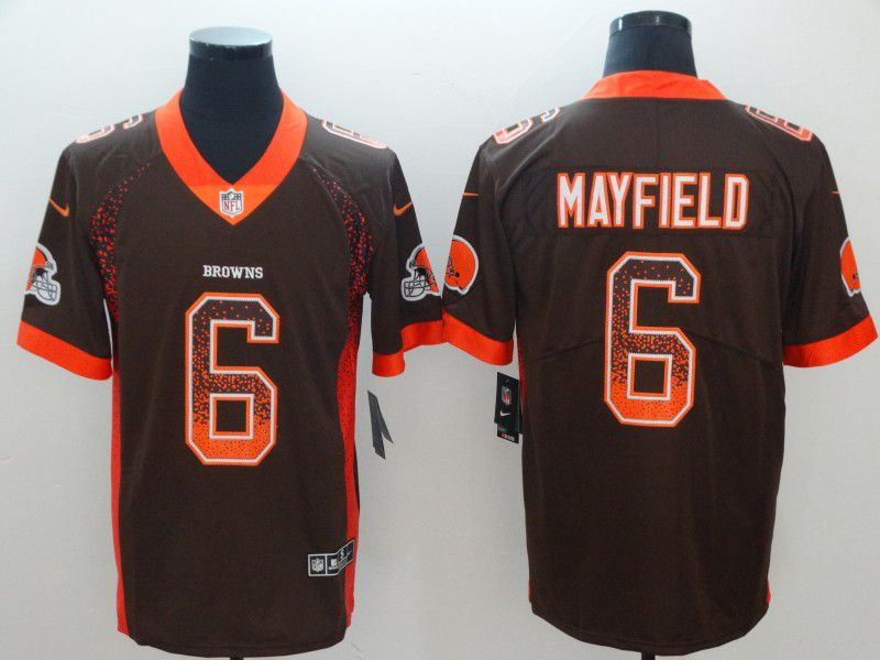Men Cleveland Browns 6 Mayfield Brown Nike Vapor Untouchable Limited Playe NFL Jerseys