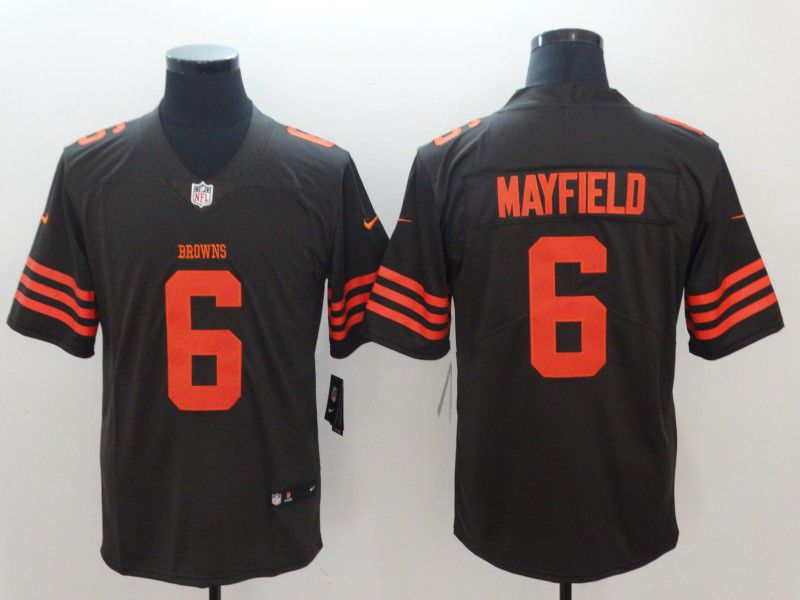 Men Cleveland Browns 6 Mayfield Brown Nike Vapor Untouchable Limited Playe NFL Jerseys1