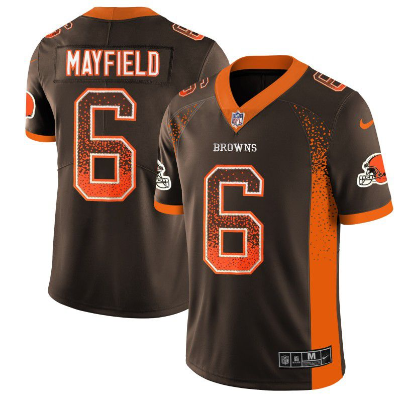 Men Cleveland Browns 6 Mayfield Drift Fashion Color Rush Limited NFL Jerseys