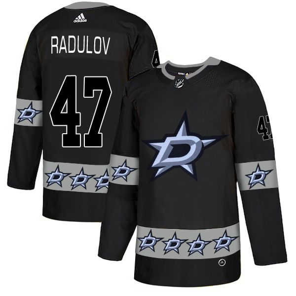 Men Dallas Stars 47 Radulov Black Adidas Fashion NHL Jersey