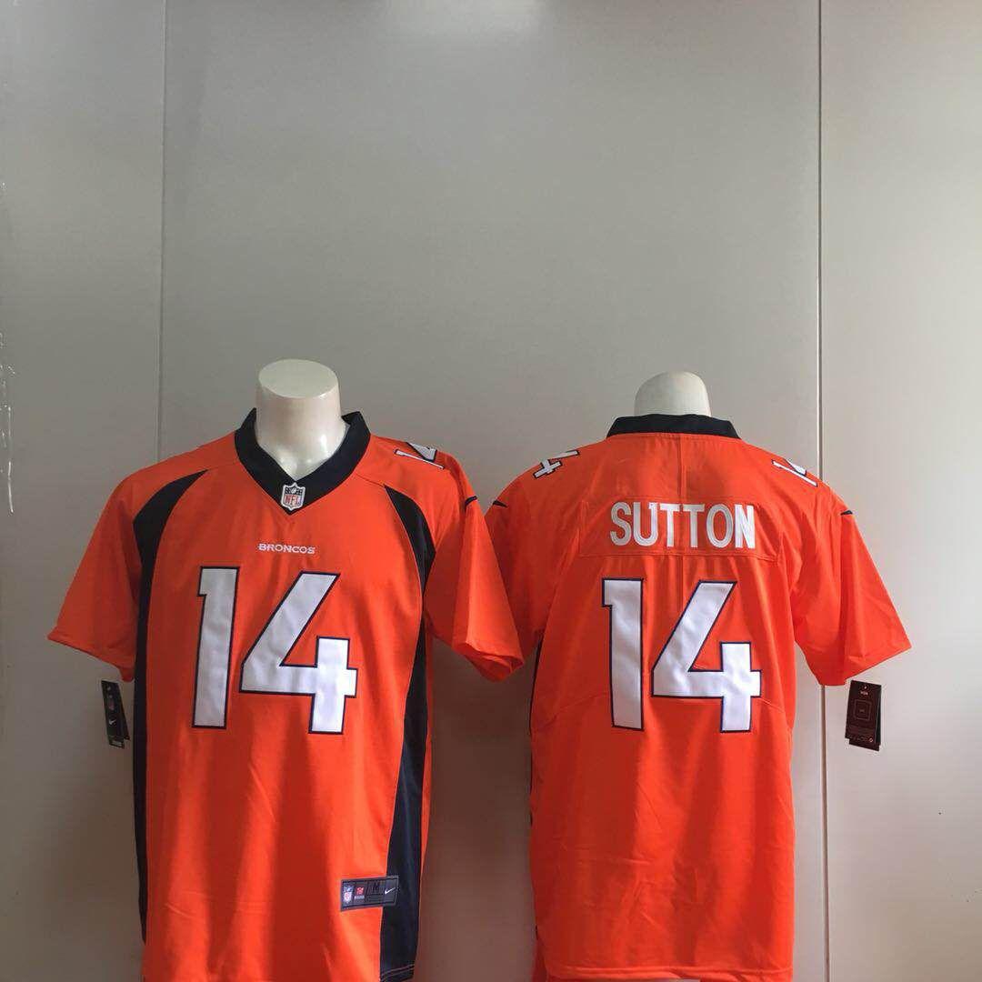 6a2c5ef58 Men Denver Broncos 14 Sutton Orange Nike Vapor Untouchable Limited Playe NFL  Jerseys