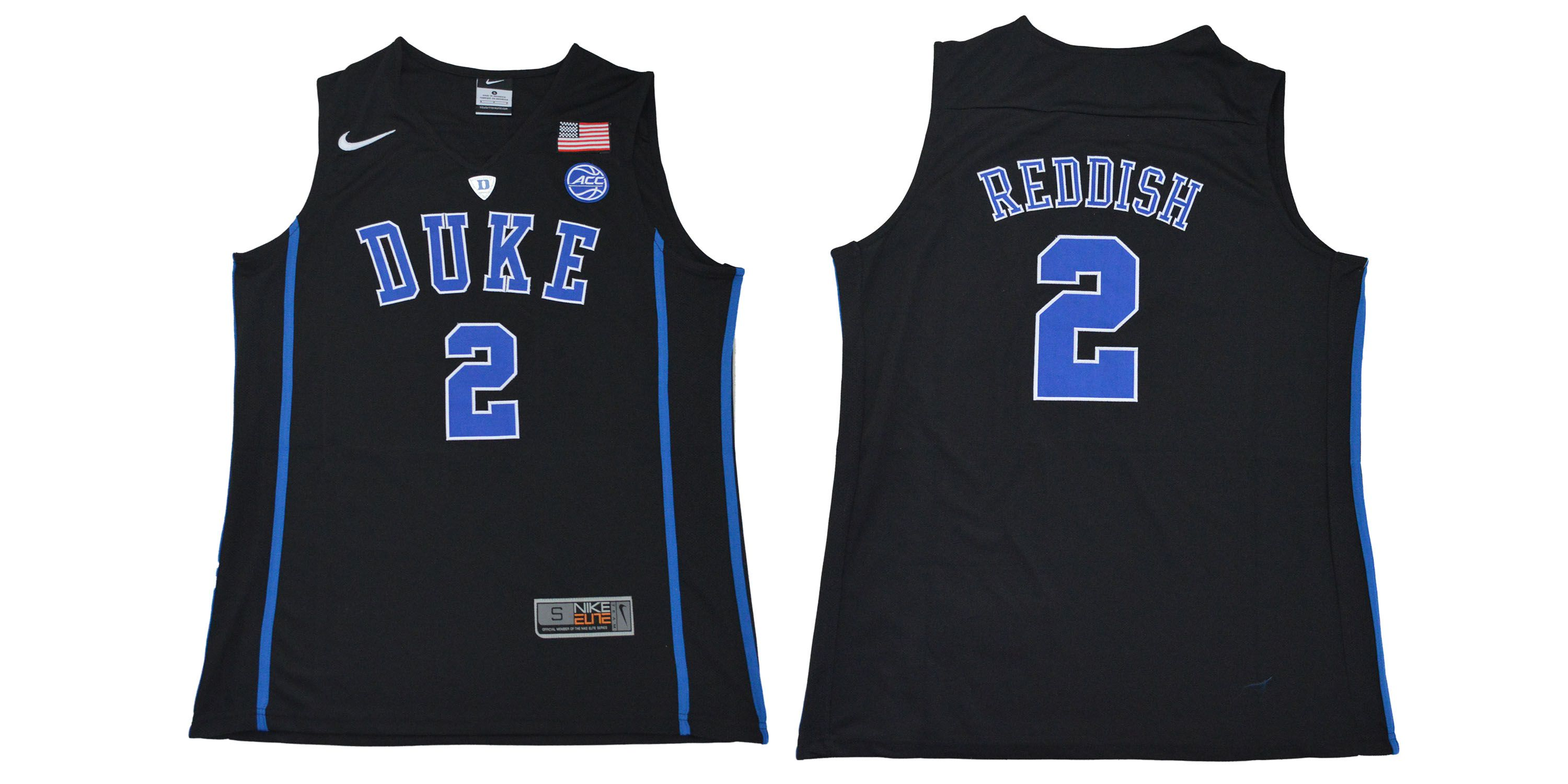 Men Duke Blue Devils 2 Reddish Black NBA NCAA Jerseys