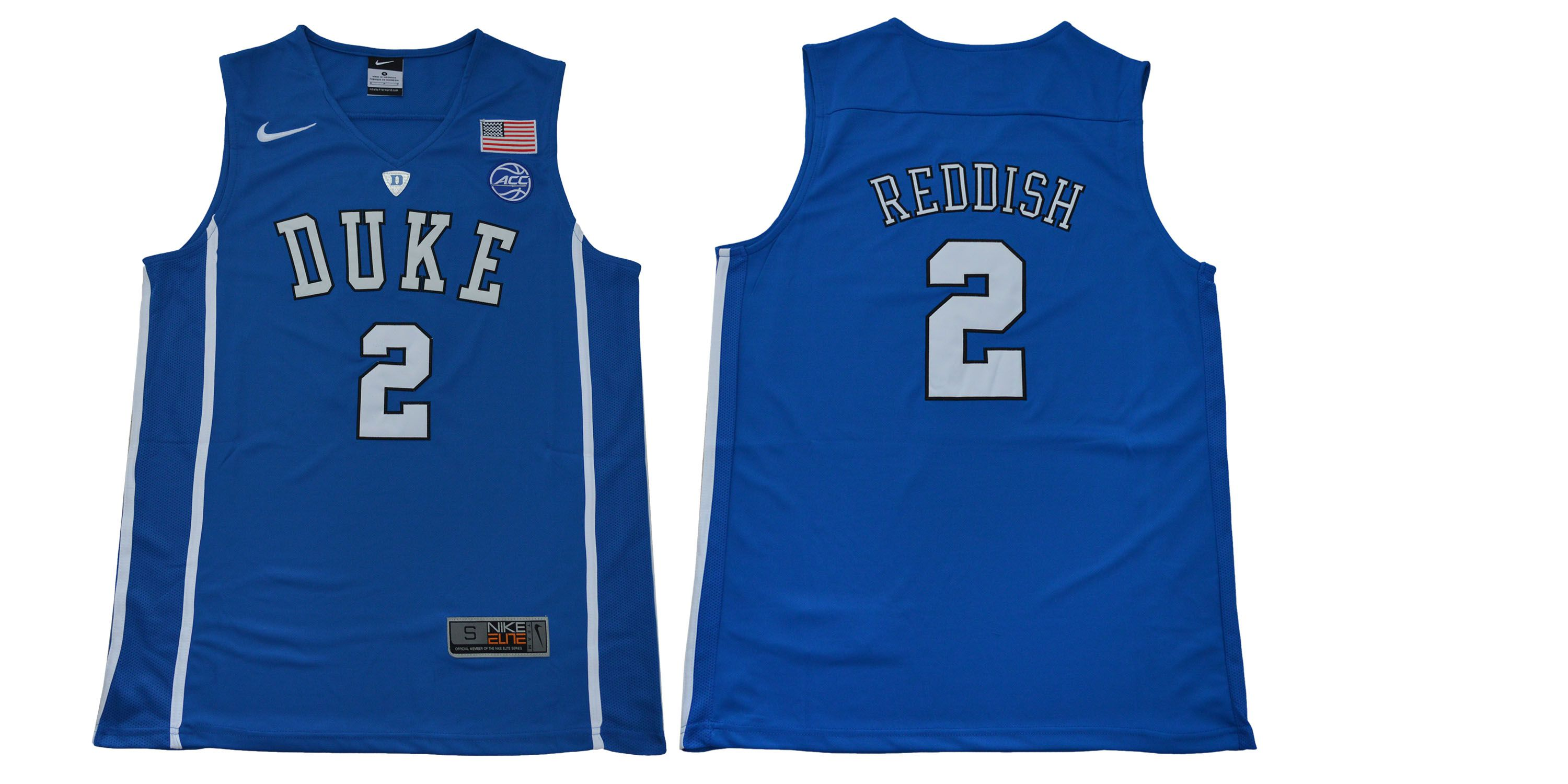 Men Duke Blue Devils 2 Reddish Blue NBA NCAA Jerseys