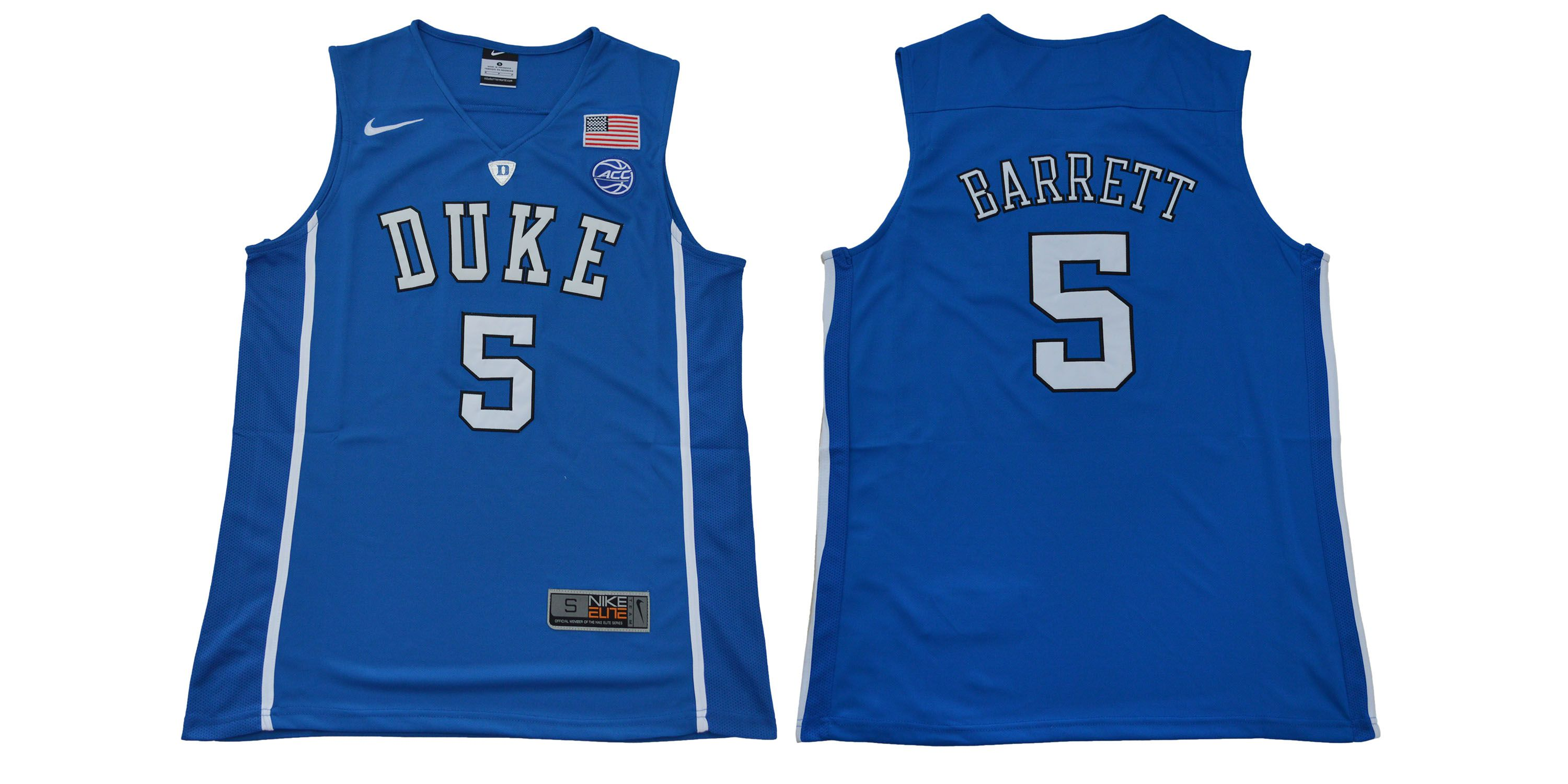 Men Duke Blue Devils 5 Barrett Blue NBA NCAA Jerseys