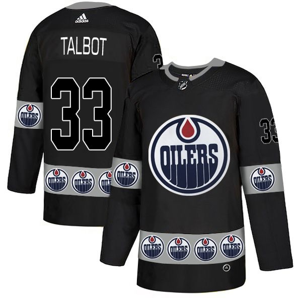 Men Edmonton Oilers 33 Talbot Black Adidas Fashion NHL Jersey