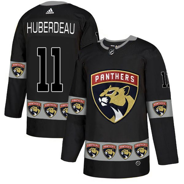 Men Florida Panthers 11 Huberdeau Black Adidas Fashion NHL Jersey