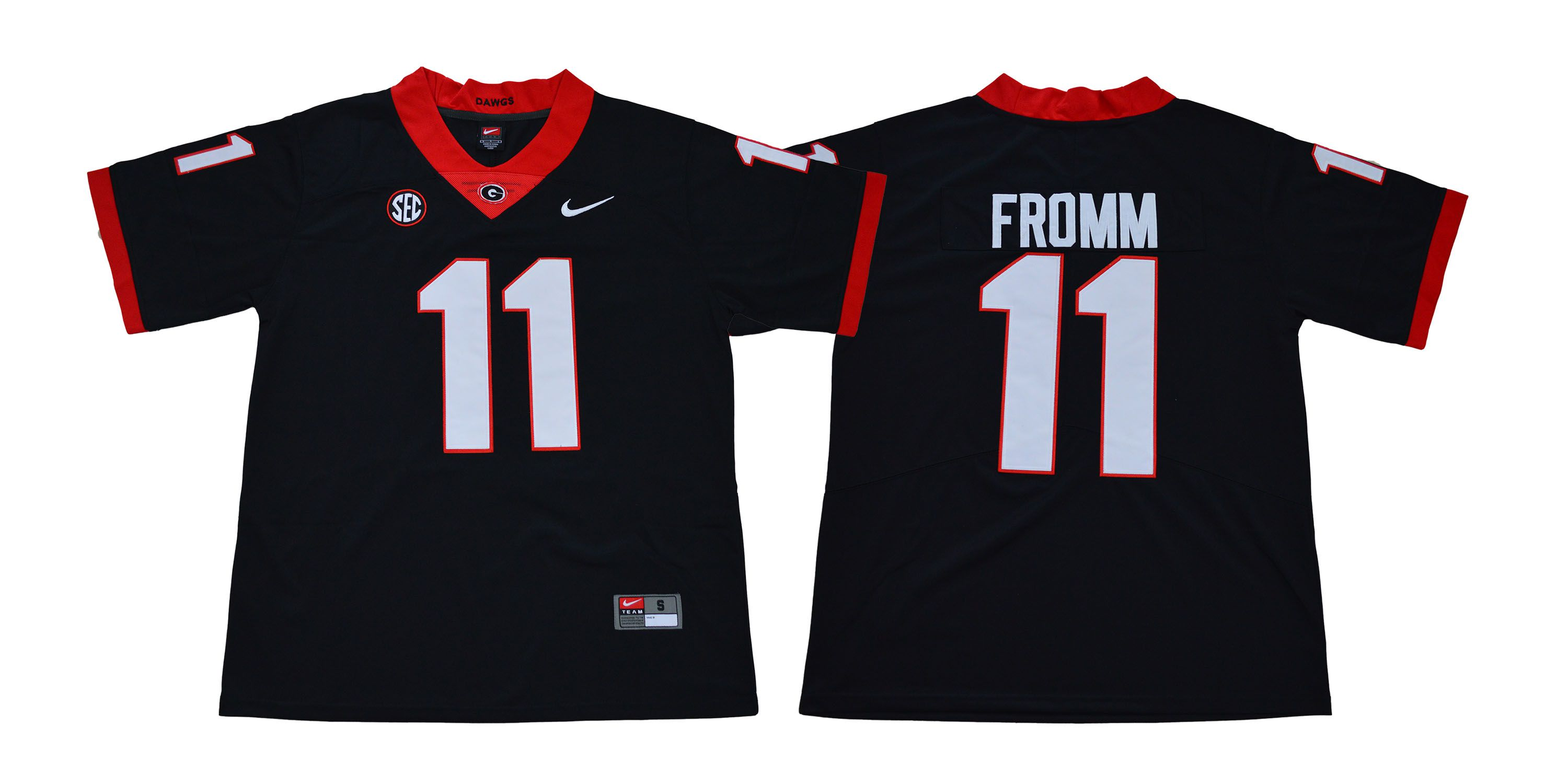 Men Georgia Bulldogs 11 Fromm Legend Black NCAA Jerseys