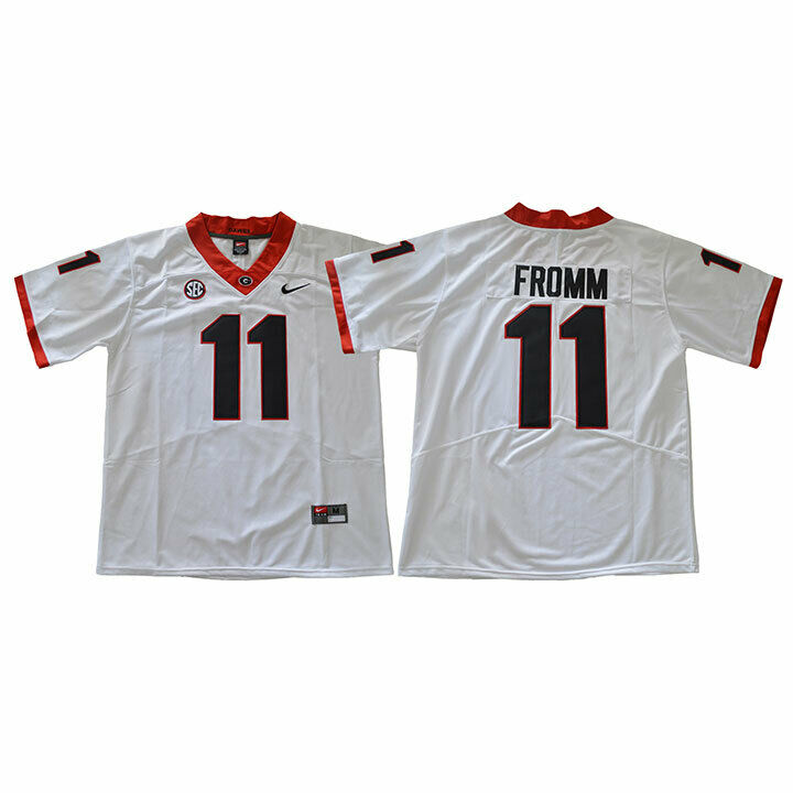 Men Georgia Bulldogs 11 Fromm Legend White NCAA Jerseys