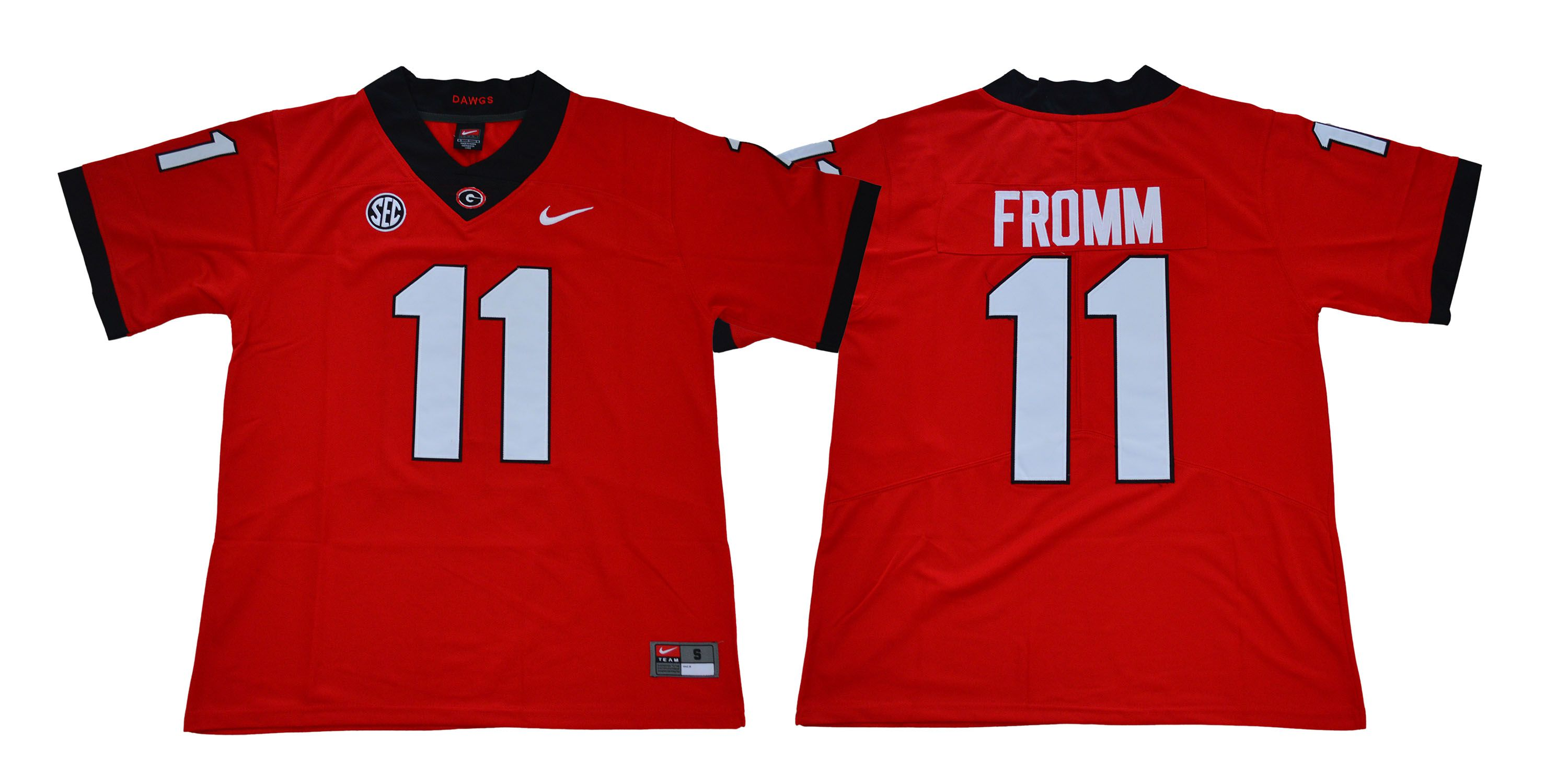 Men Georgia Bulldogs 11 Fromm Legend red NCAA Jerseys