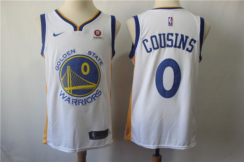 Men Golden State Warriors 0 Cousins White Game Nike NBA Jerseys