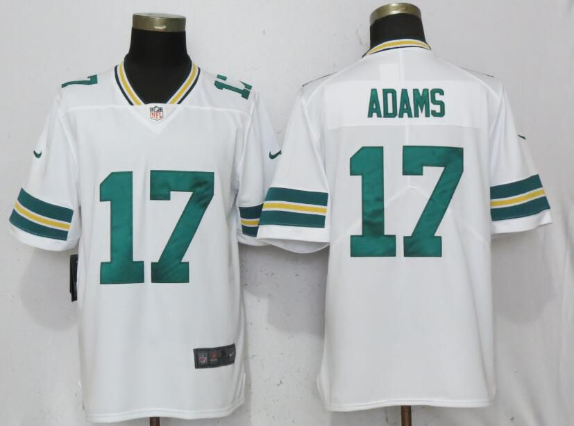 Men Green Bay Packers 17 Adams White Nike Vapor Untouchable Limited Playe NFL Jerseys
