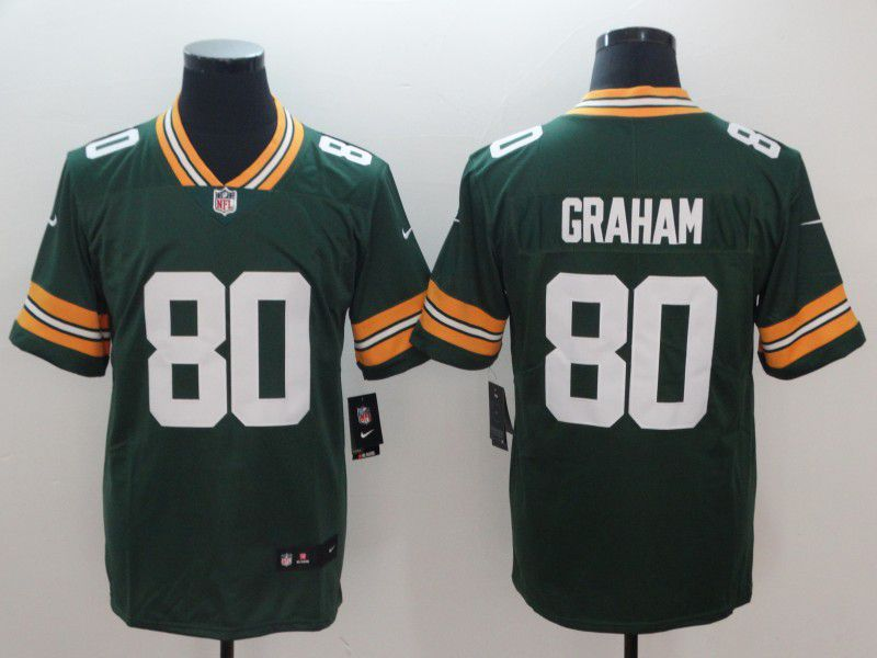3e324bc44 Men Green Bay Packers 80 Graham Green Nike Vapor Untouchable Limited Player  NFL Jerseys