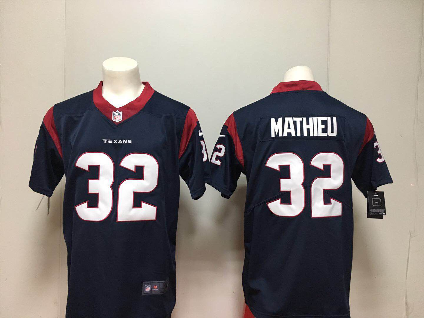 Men Houston Texans 32 Mathieu Blue Nike Vapor Untouchable Limited Playe NFL Jerseys