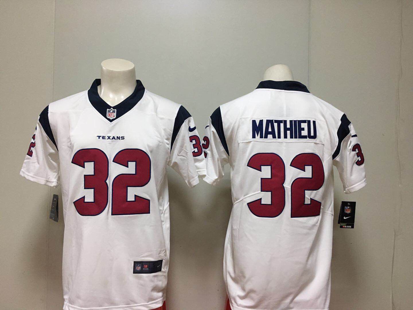 Men Houston Texans 32 Mathieu White Nike Vapor Untouchable Limited Playe NFL Jerseys