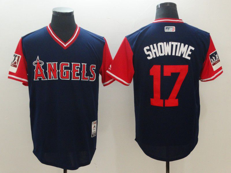 Men Los Angeles Angels 17 Showtime Blue New Rush Limited MLB Jerseys