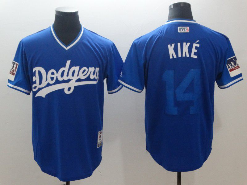 Men Los Angeles Dodgers 14 Kike Blue New Rush Limited MLB Jerseys