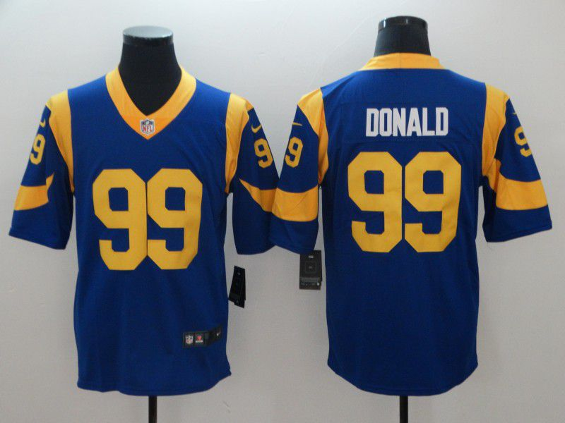 Men Los Angeles Rams 99 Donald Blue Nike Vapor Untouchable Limited Playe NFL Jerseys