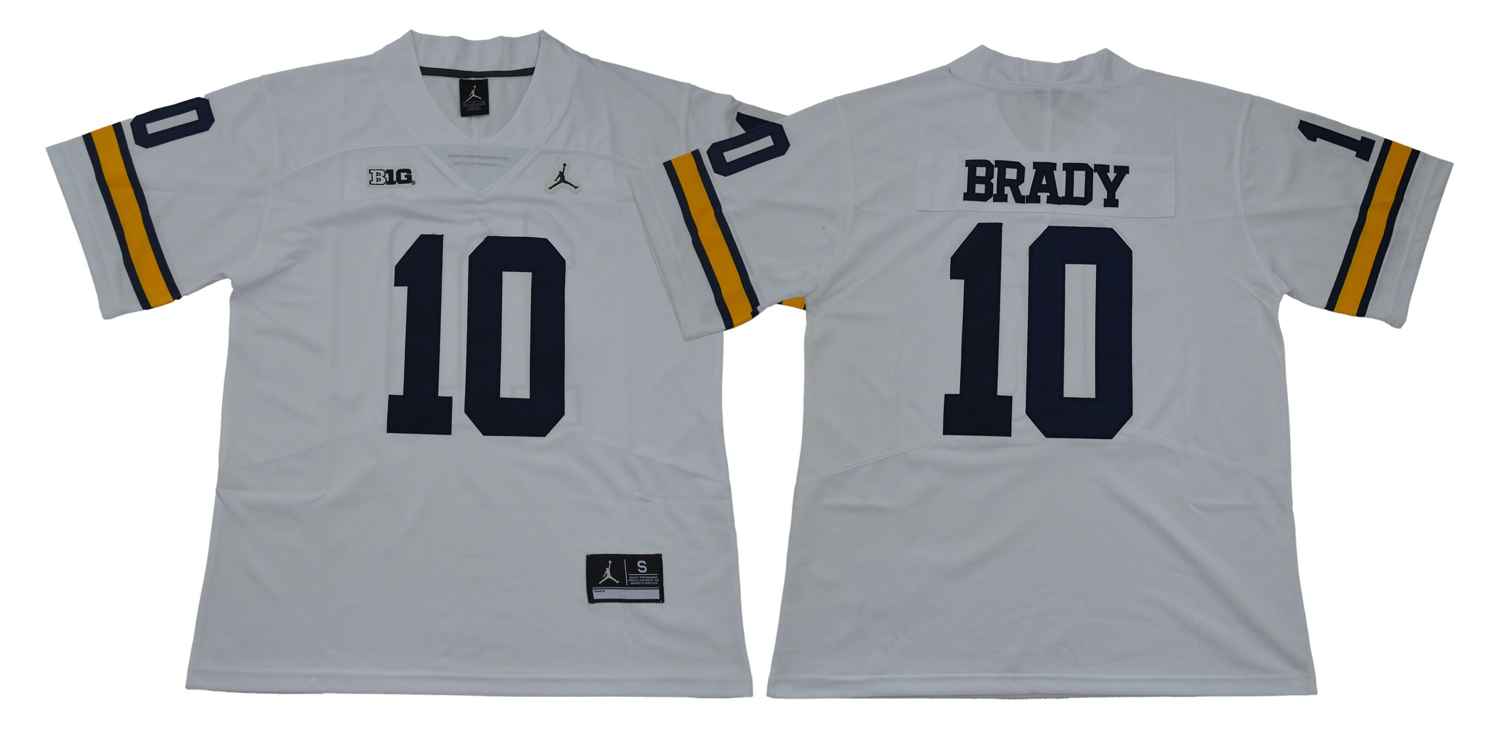 Men Michigan Wolverines 10 Brady White NCAA Jerseys
