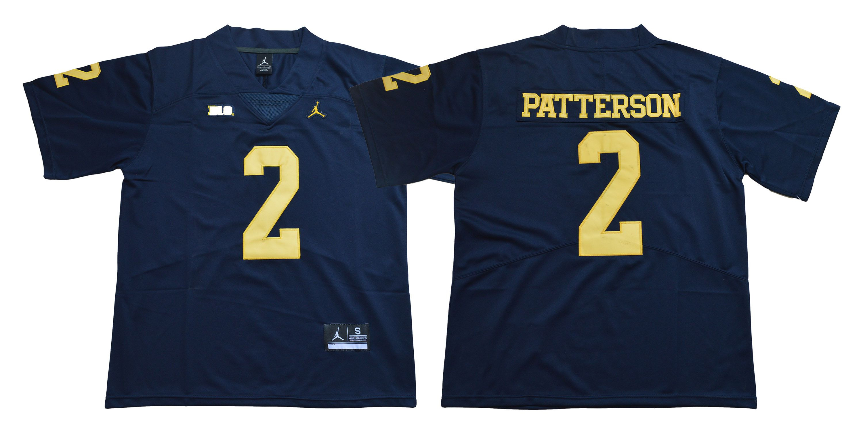 Men Michigan Wolverines 2 Patterson Blue NCAA Jerseys