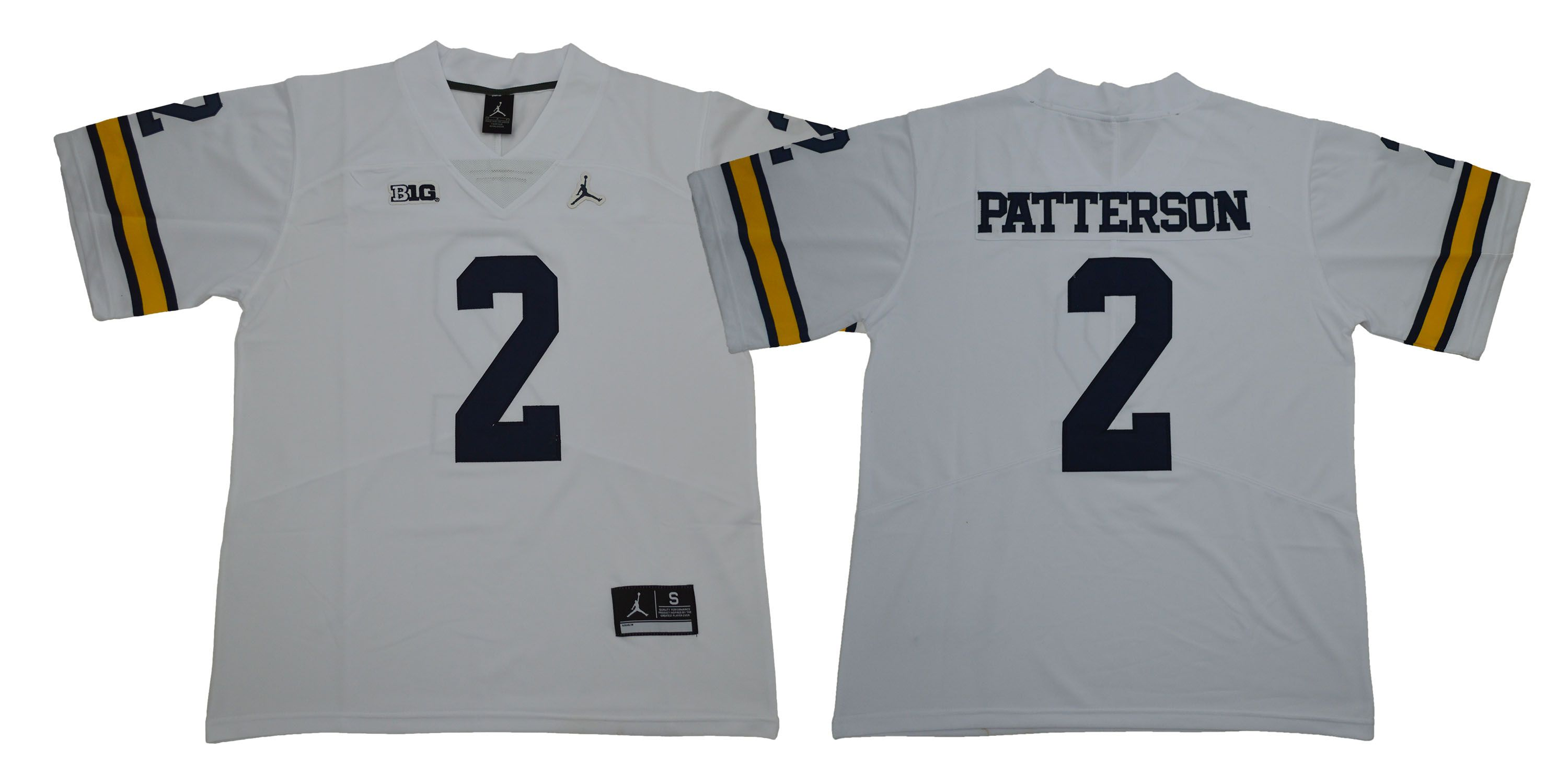 Men Michigan Wolverines 2 Patterson White NCAA Jerseys