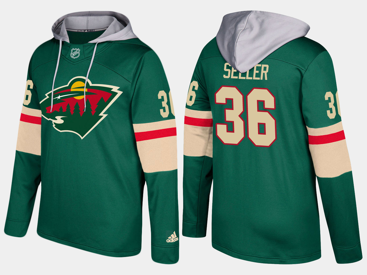 Men Minnesota wild 36 nick seeler green hoodie