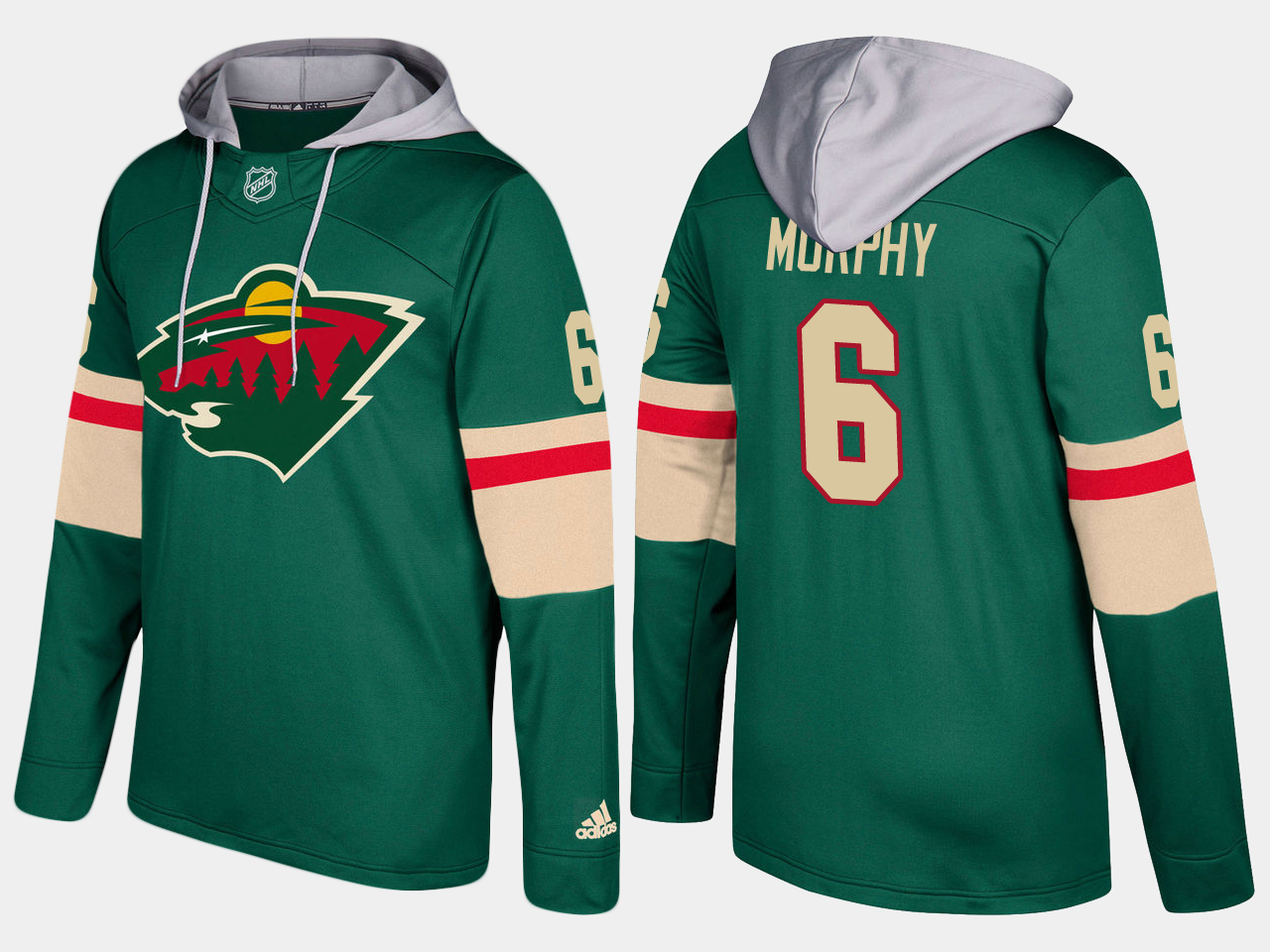 Men Minnesota wild 6 ryan murphy green hoodie