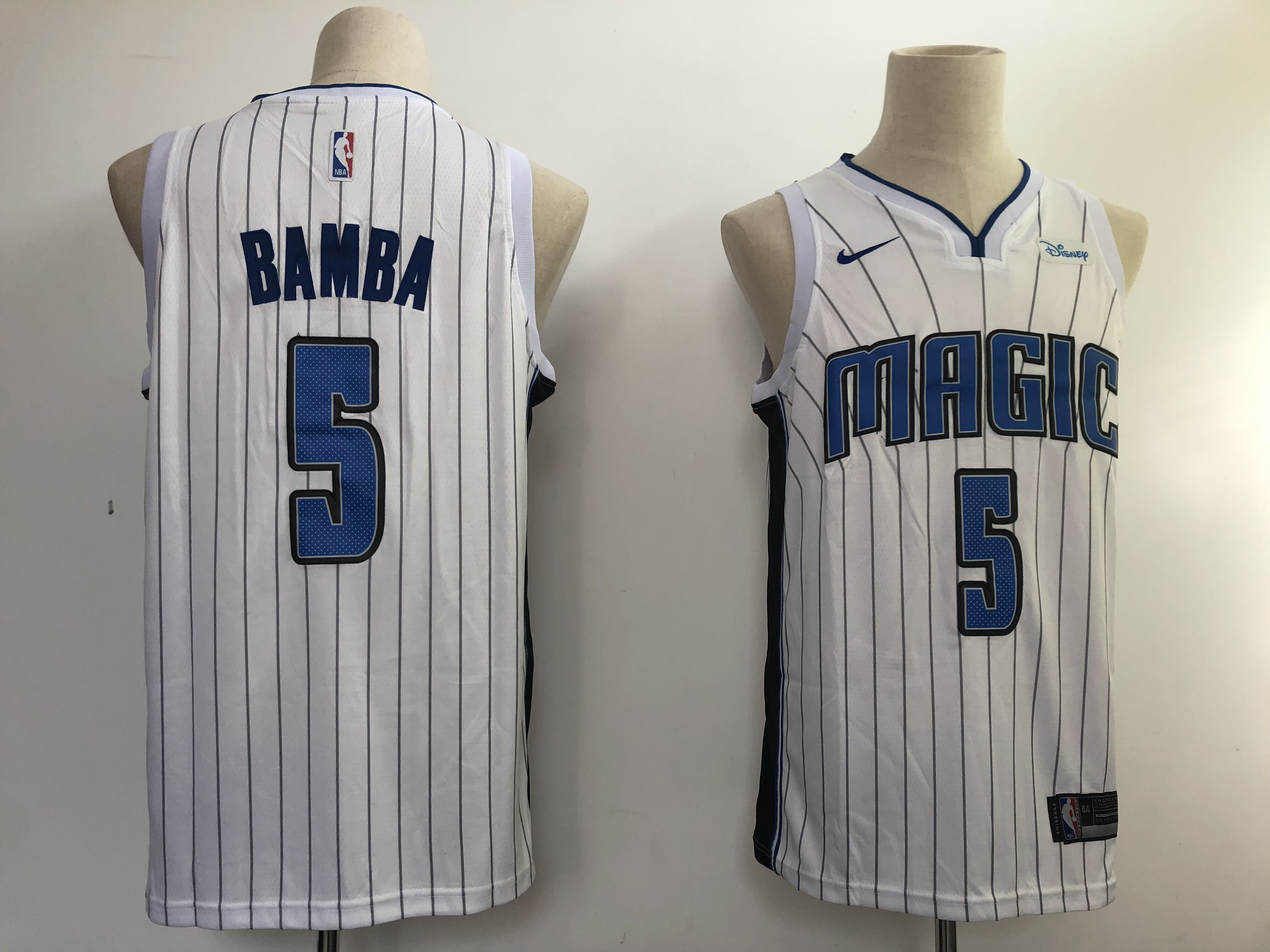Men NBA Orlando Magic 5 Bamba white game Nike NBA Jerseys