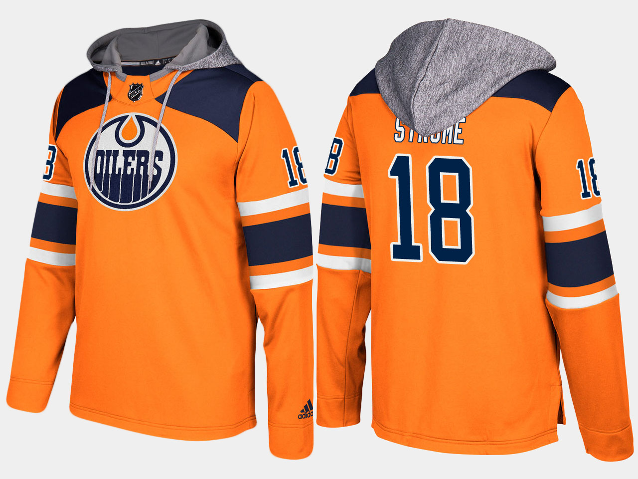 Men NHL Edmonton oilers 18 ryan strome orange hoodie