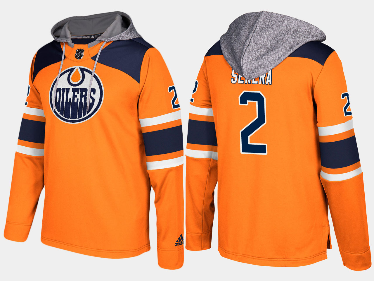 Men NHL Edmonton oilers 2 andrej sekera orange hoodie