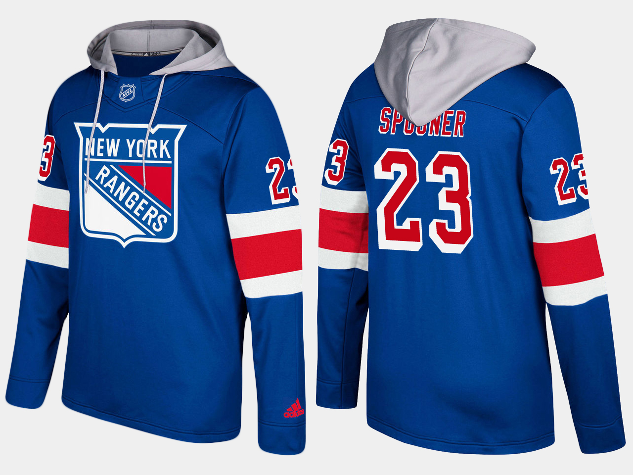 Men NHL New York rangers 23 ryan spooner blue hoodie