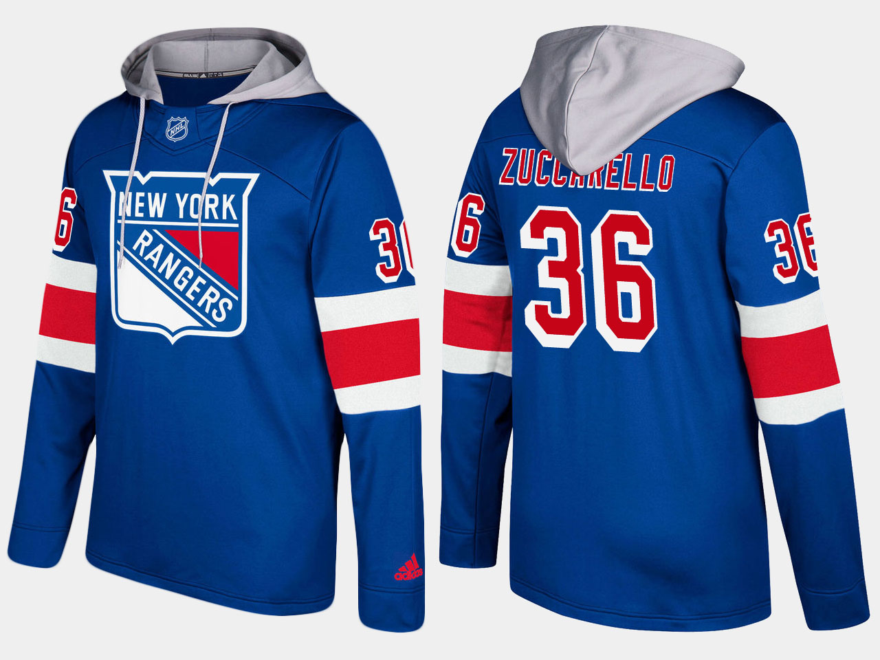 Men NHL New York rangers 36 mats zuccarello blue hoodie