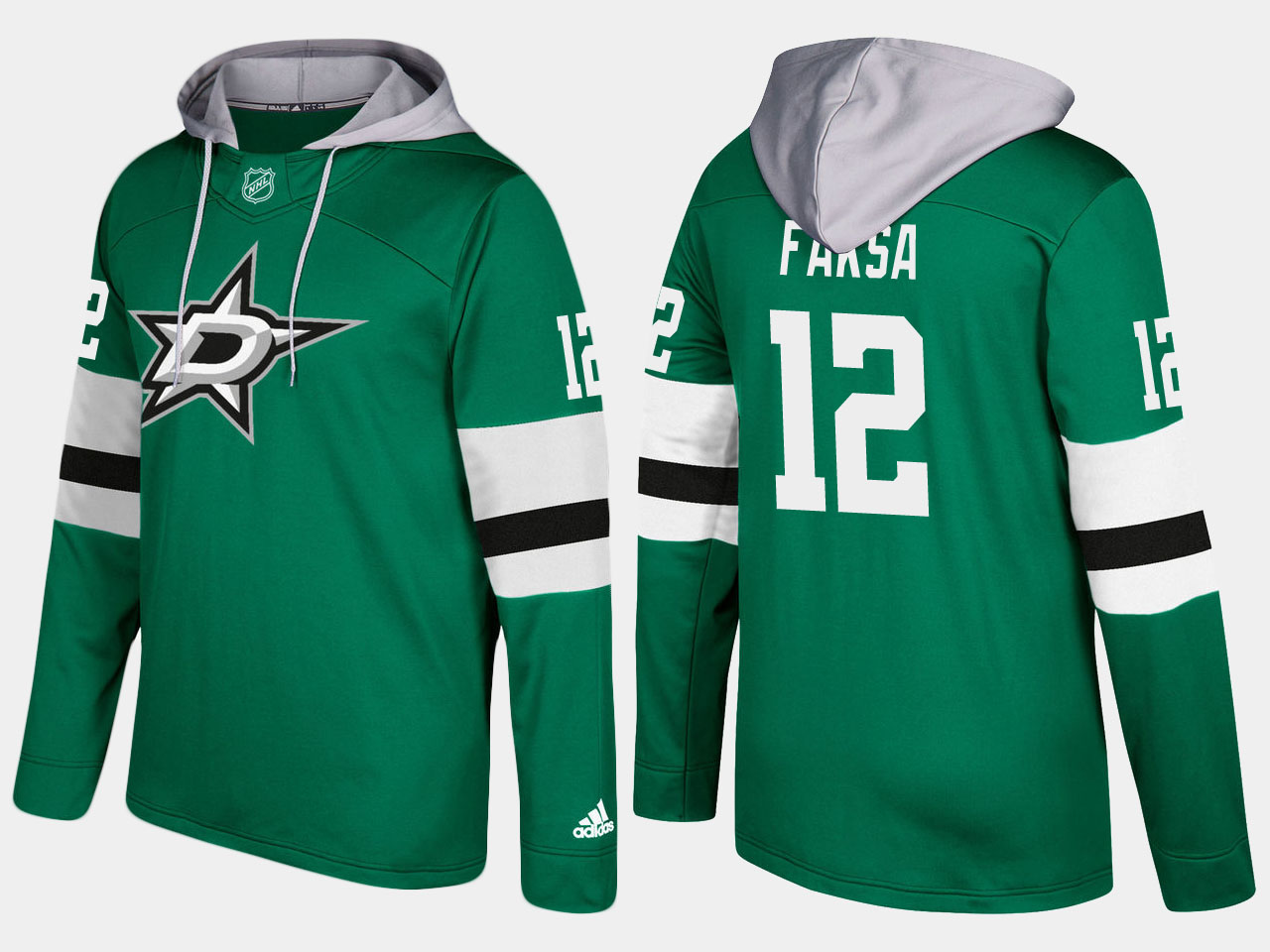 Men NHL dallas stars 12 radek faksa green hoodie