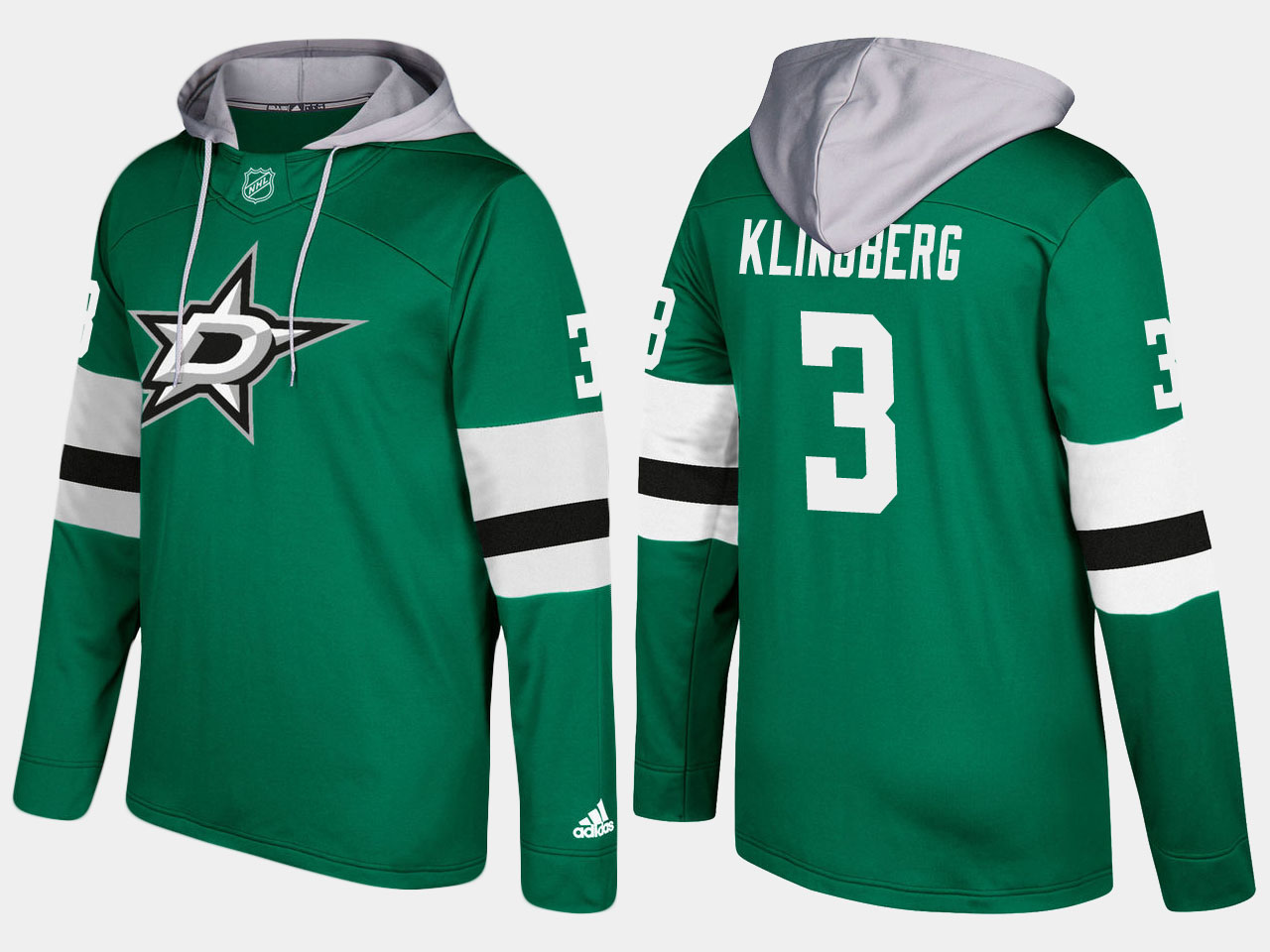 Men NHL dallas stars 3 john klingberg green hoodie