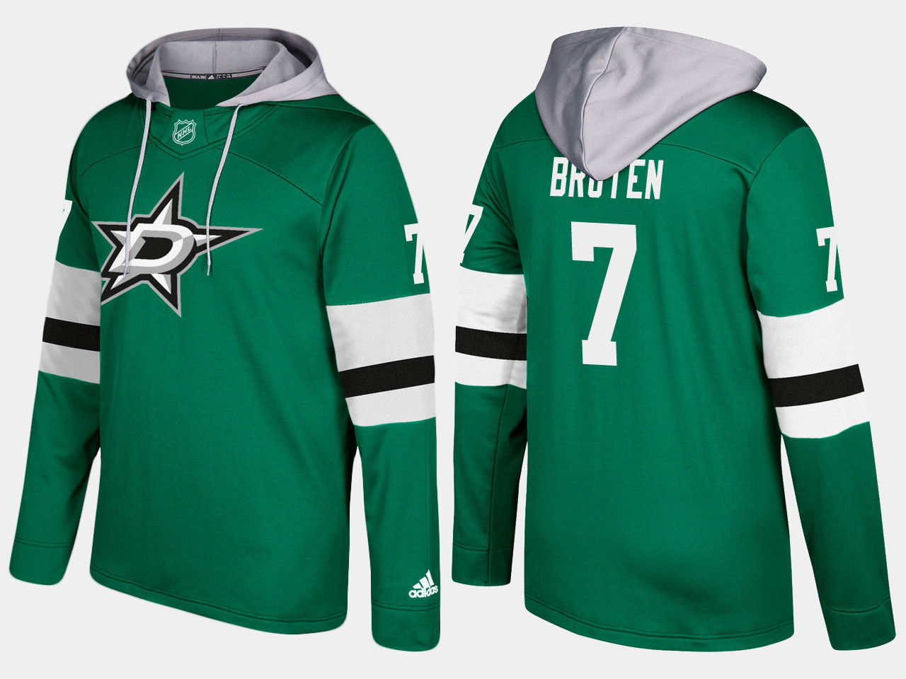 Men NHL dallas stars 7 retired neal broten green hoodie