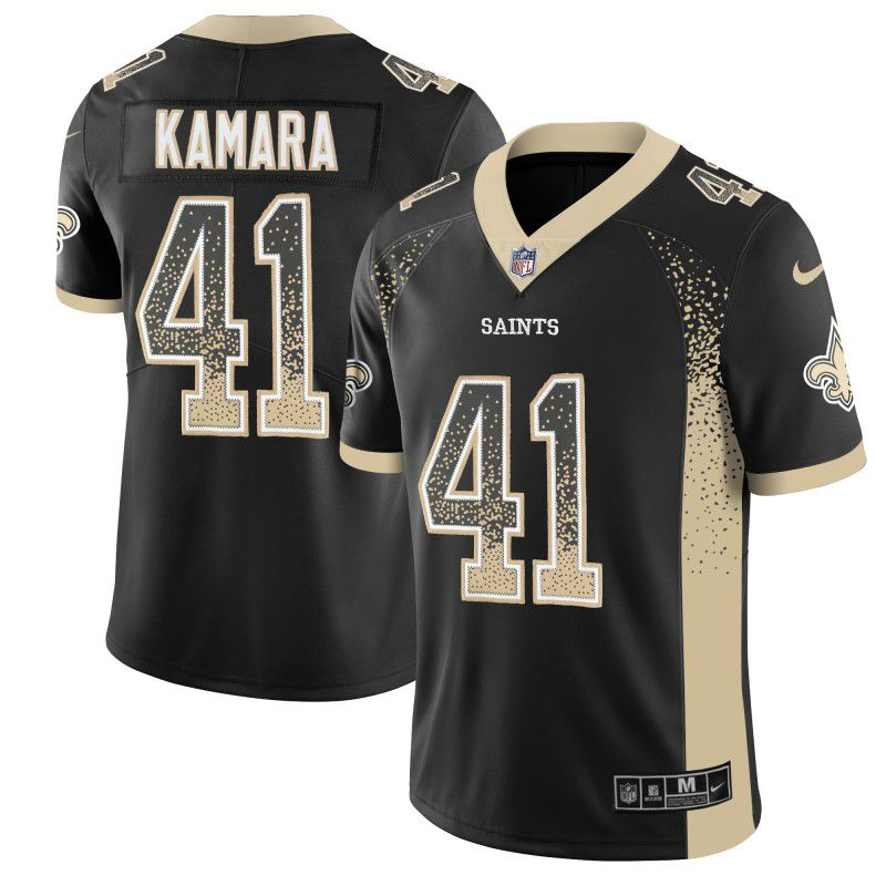 Men New Orleans Saints 41 Kamara Drift Fashion Color Rush Limited NFL Jerseys