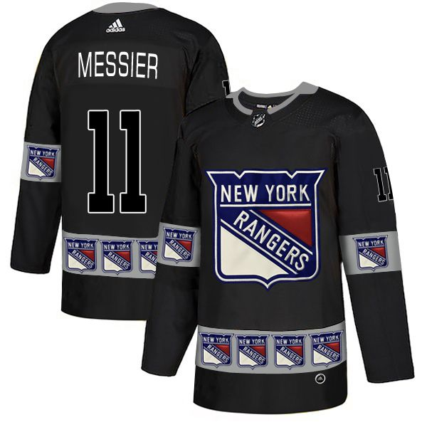 Men New York Rangers 11 Messier Black Adidas Fashion NHL Jersey