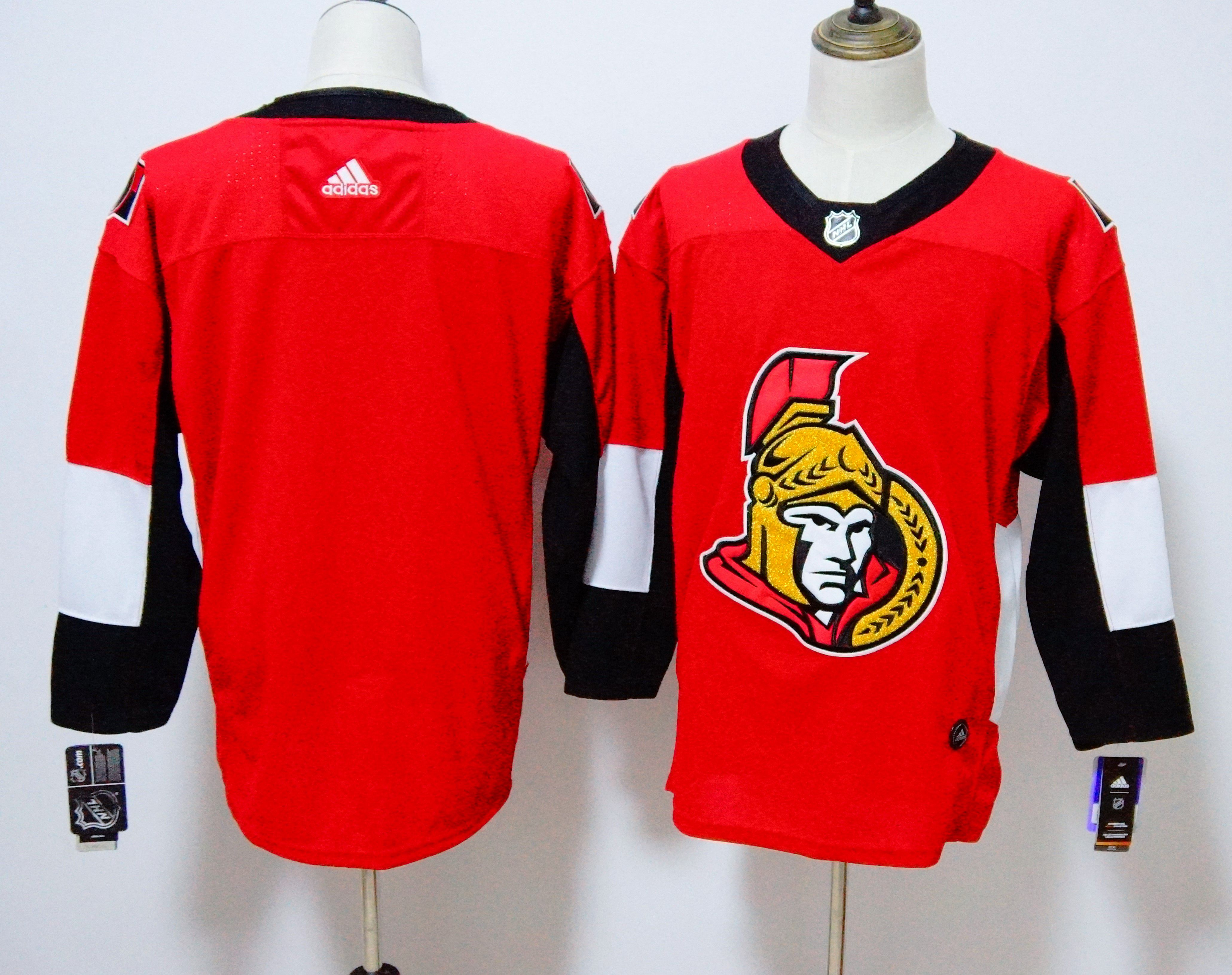 Men Ottawa Senators Blank red Adidas Hockey Stitched NHL Jerseys